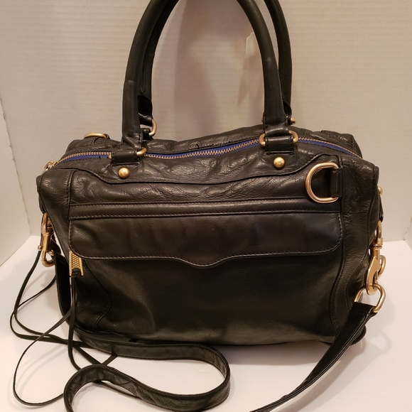 Rebecca Minkoff Handbags - Rebecca Minkoff navy blue satchel